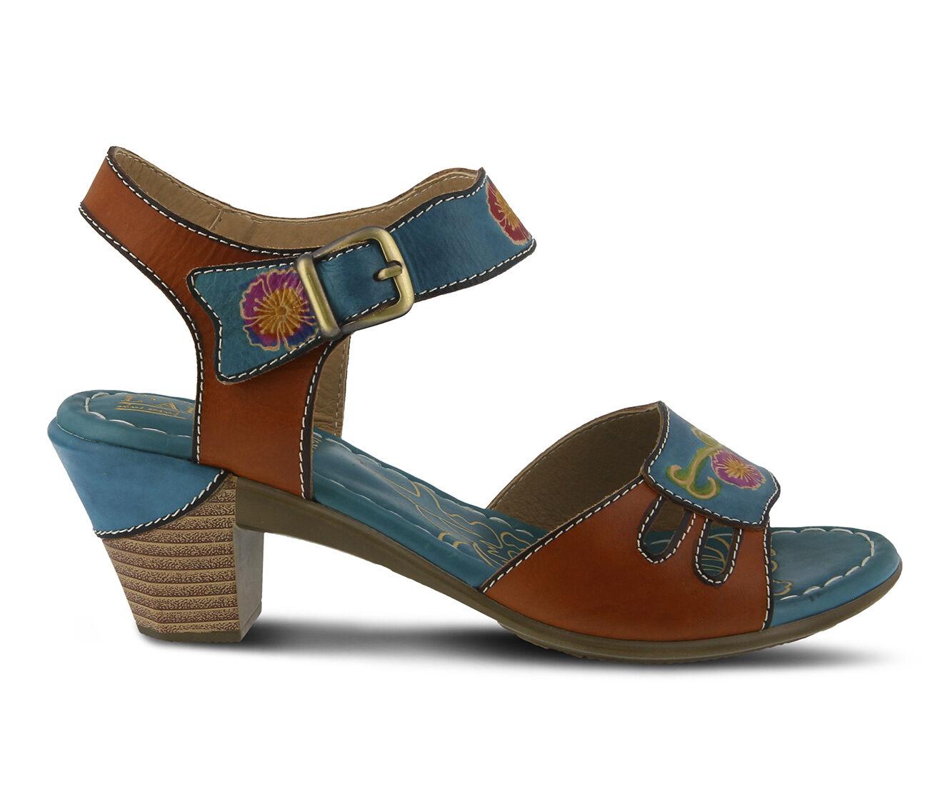 Women's L'ARTISTE Kyleta Dress Sandals Turquoise Multi