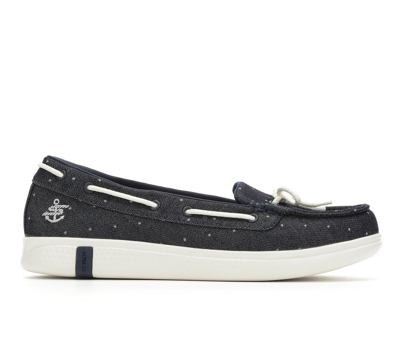 Women's Skechers Go Glide Ultra 16111 Boat Shoes Denim