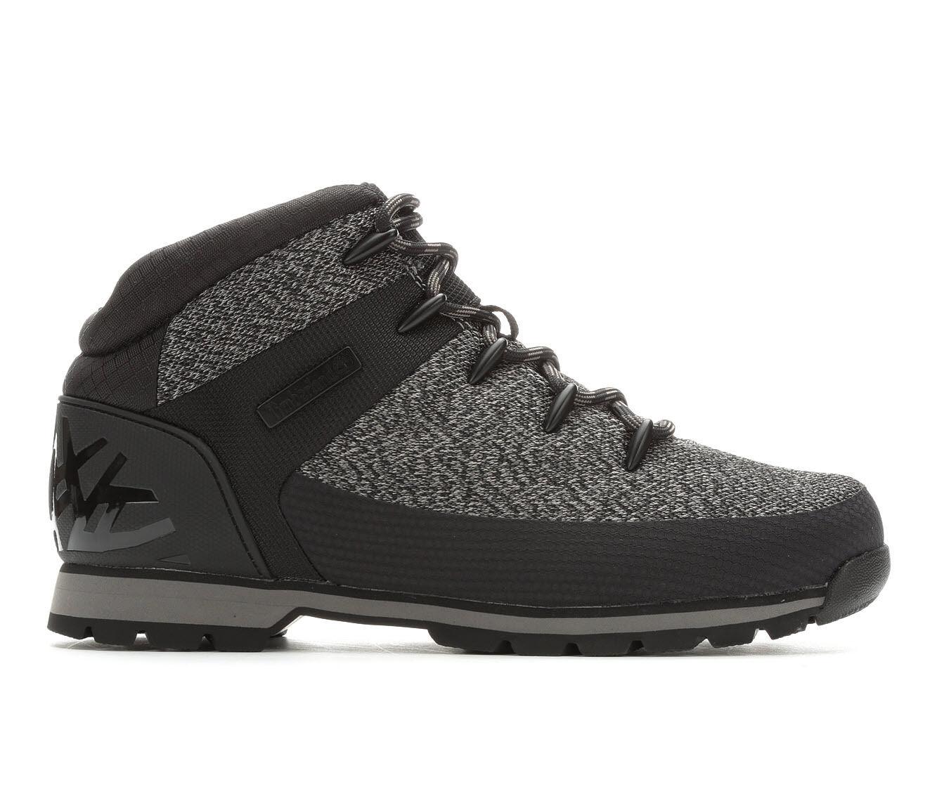 Men's Timberland Euro Sprint Hiker Boots Black/Grey