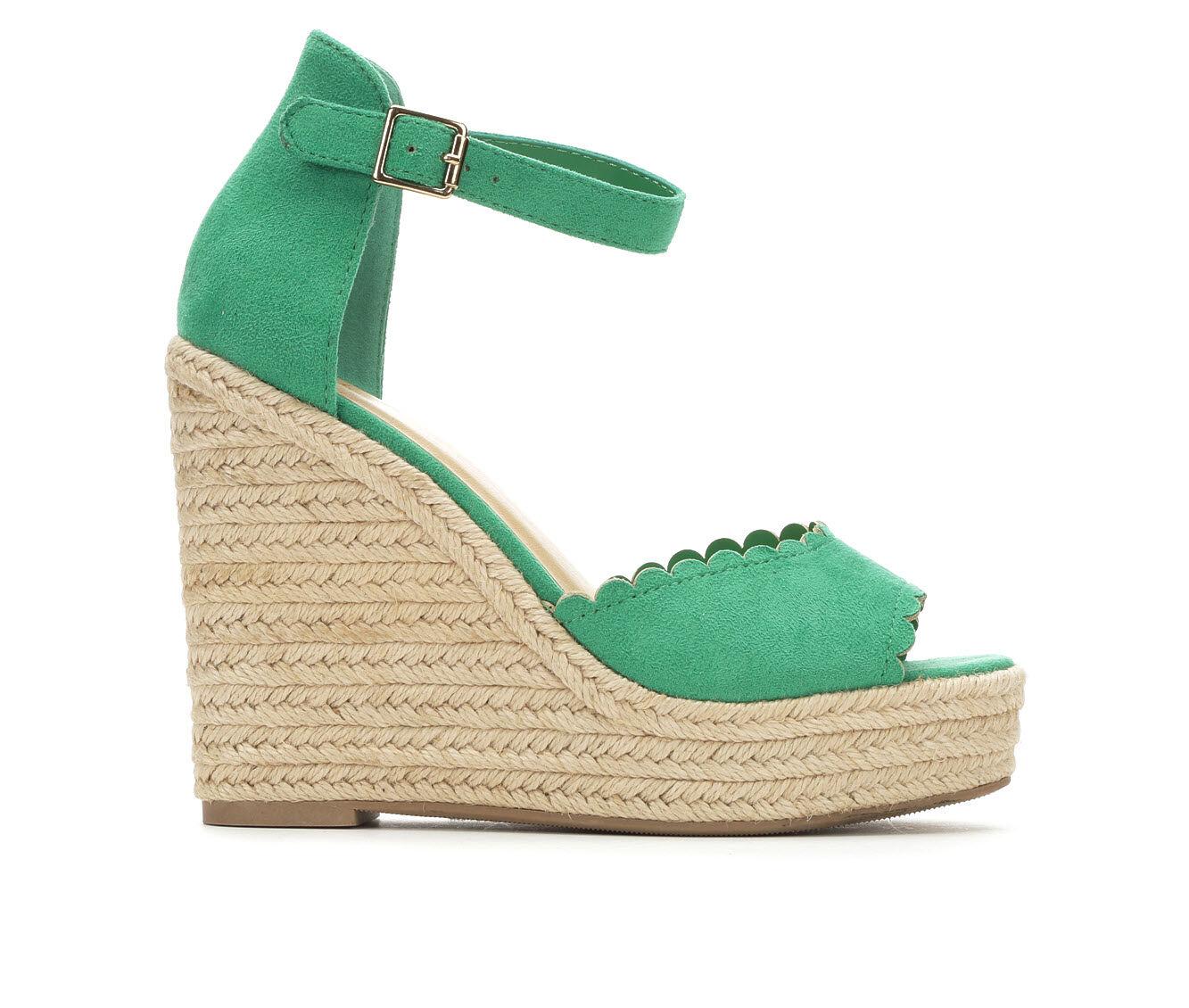 Women's Y-Not Herald Wedge Sandals Emerald