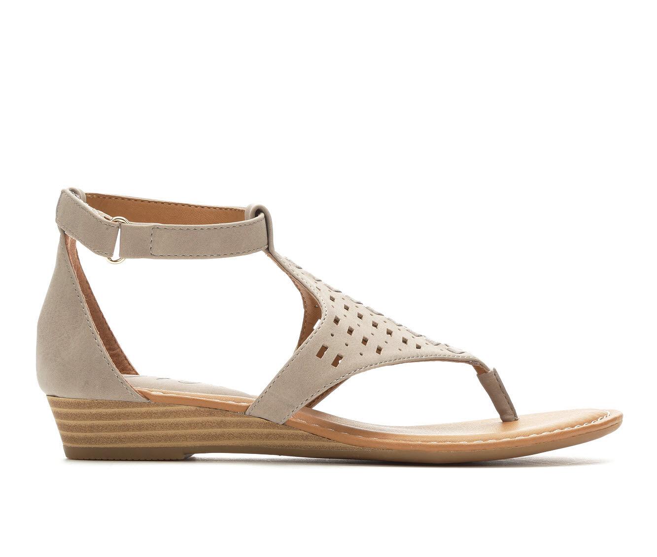 Women's Vintage 7 Eight Melissa Wedge Sandals Mist Grey