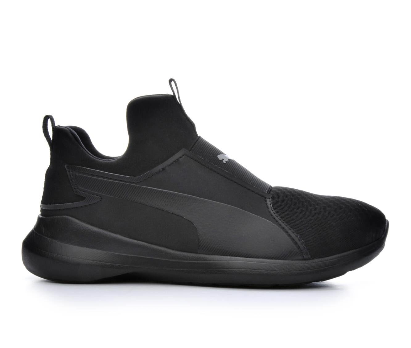purchase export Women's Puma Rebel High Top Slip-On Sneakers Black/Black