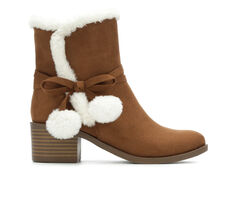 Girls' Nine West Little Kid & Big Kid Cyndees Mid Faux Fur Boots