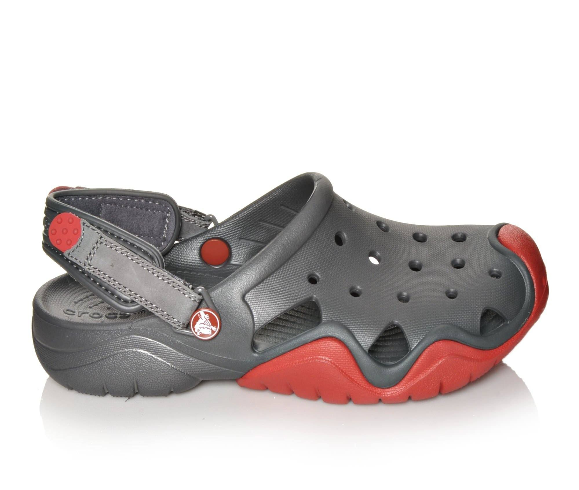 Crocs Shoes  Crocs Swiftwater Clog Mens Casual Shoes GraphiteFlame