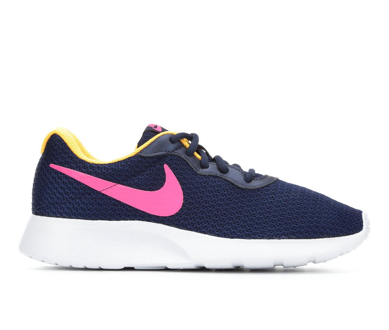 Extremely Cool Women's Nike Tanjun Sneakers Navy/Pink/Org