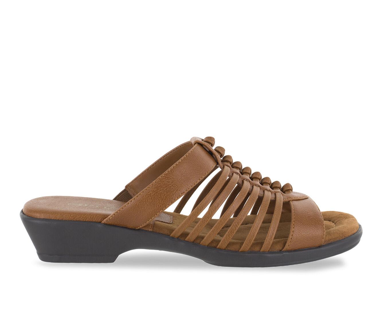 cheap designer Women's Easy Street Nola Strappy Sandals Cognac