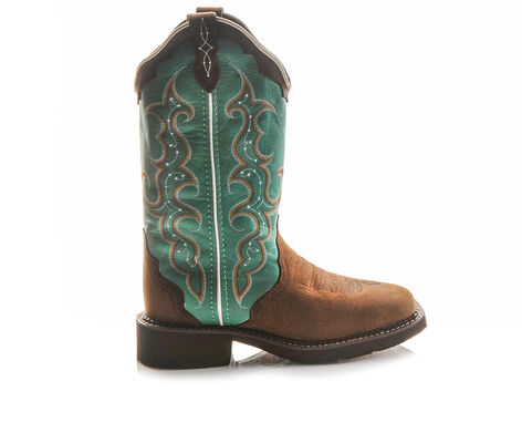 """Women's Justin Boots Gypsy L2904 12"""" Brown Turquoise Western Boots"""