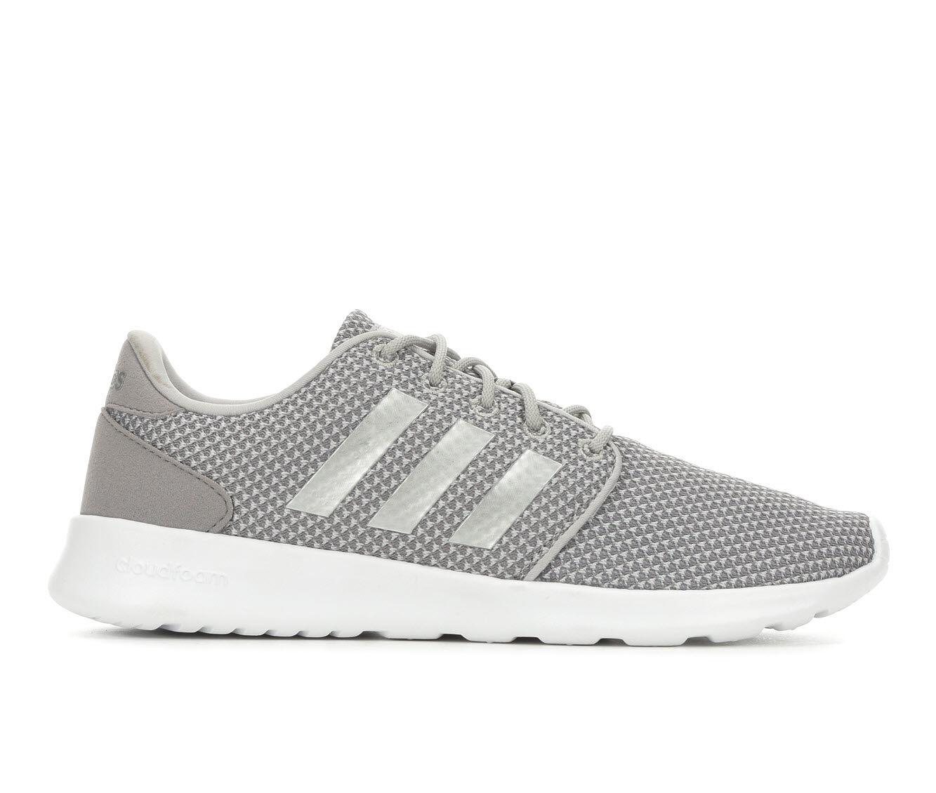 Buy Popular Women's Adidas Cloudfoam QT Racer Sneakers Grey/Silver