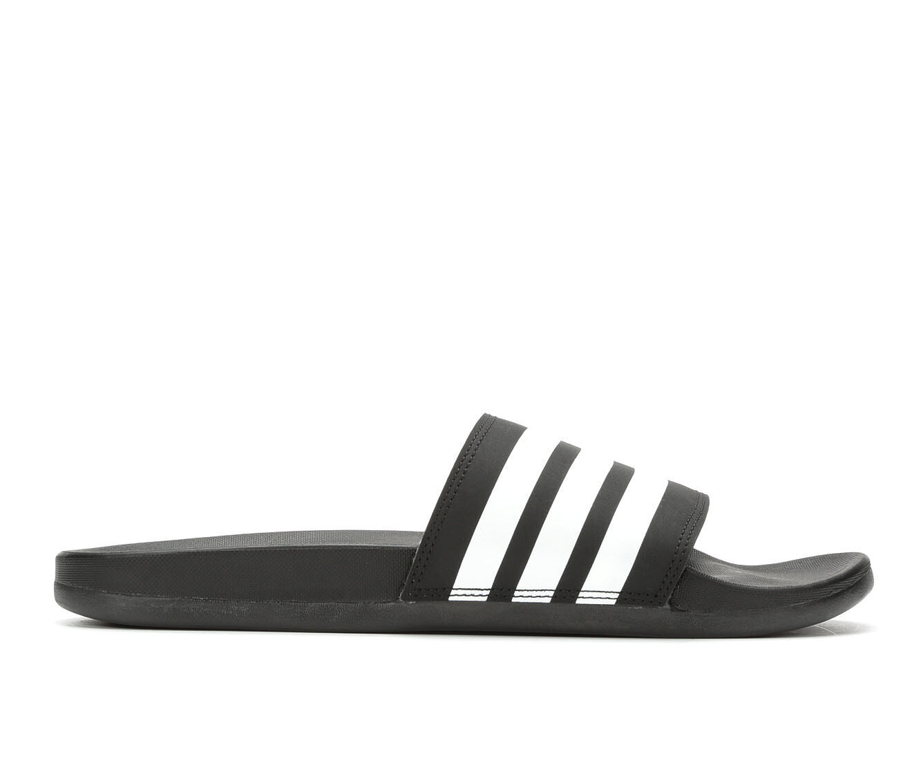 Men's Adidas Adilette Cloudfoam Plus Sport Slides Black/White
