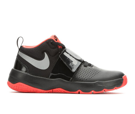 Boys' Nike Team Hustle D8 JDI 3.5-7 High Top Basketball Shoes