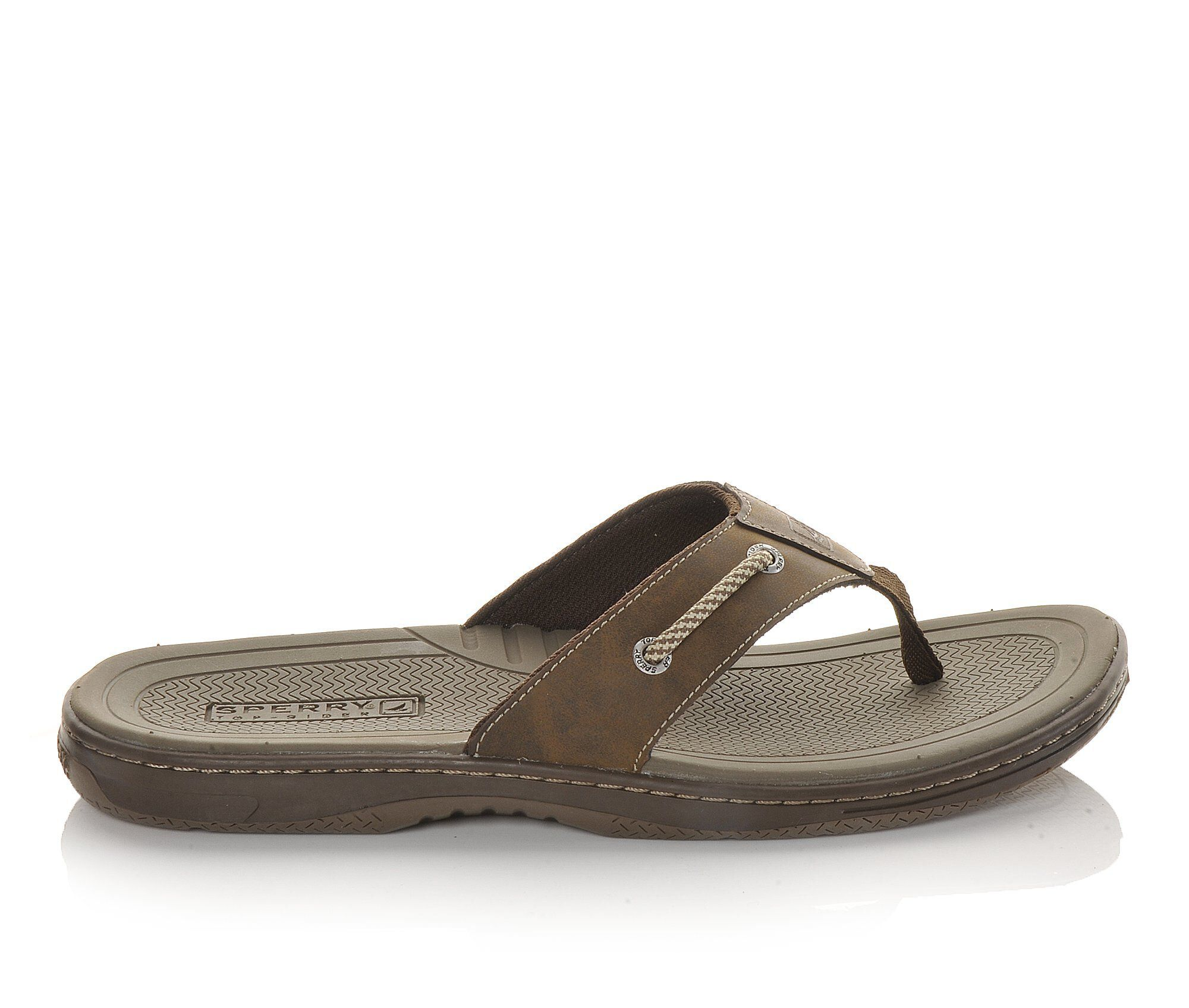 Men's Sperry Havasu Thong Flip-Flops Brown Leather