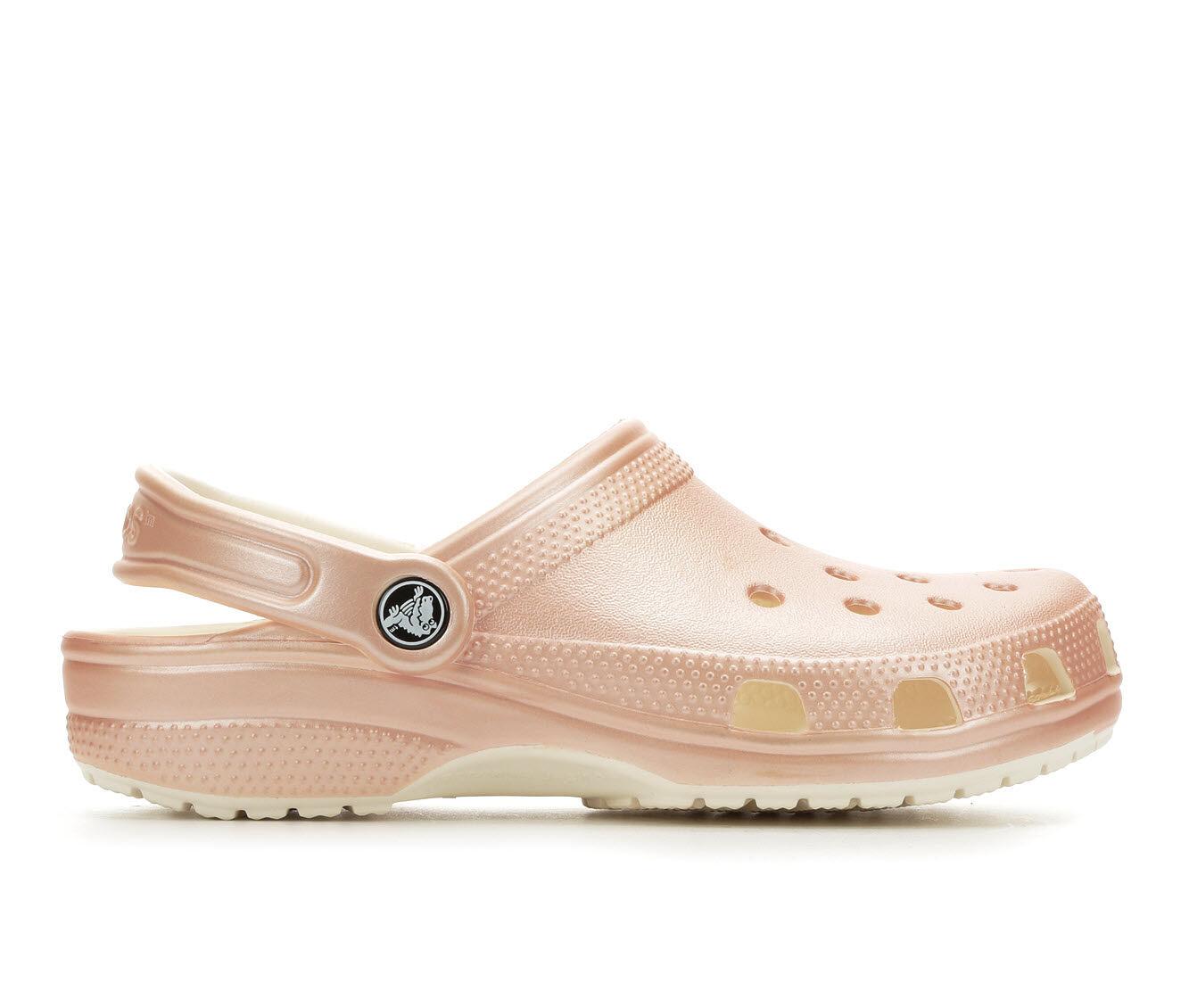 Women's Crocs Classic Clogs Rose Gold