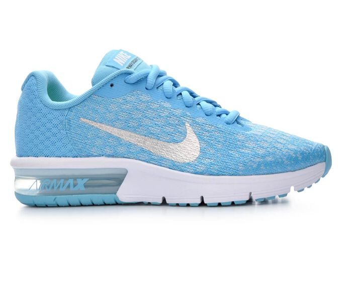 Girls' Nike Air Max Sequent 2 3.5-7 Running Shoes