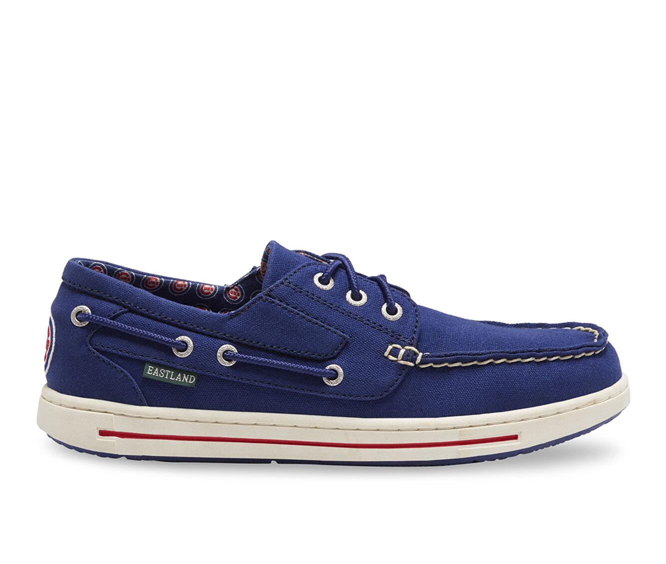 Men's Eastland Adventure MLB Cubs Boat Shoes Blue