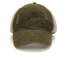 7dc696eabd0a7 David and Young Washed Distressed Trucker Hat