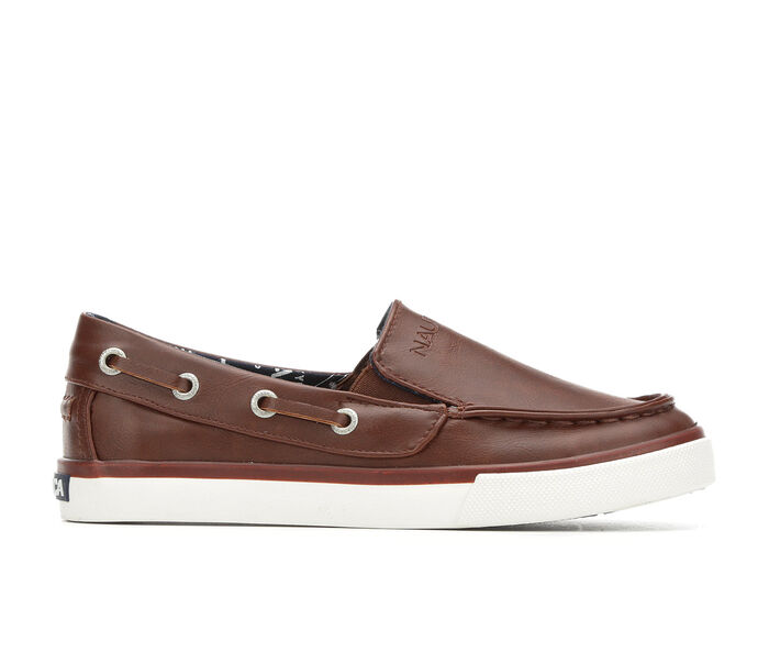 Boys' Nautica Little Kid & Big Kid Doubloon Leather Boat Shoes