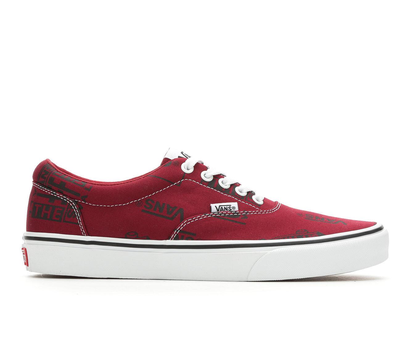 Men's Vans Doheny Skate Shoes Burg/Bk/Wh Logo