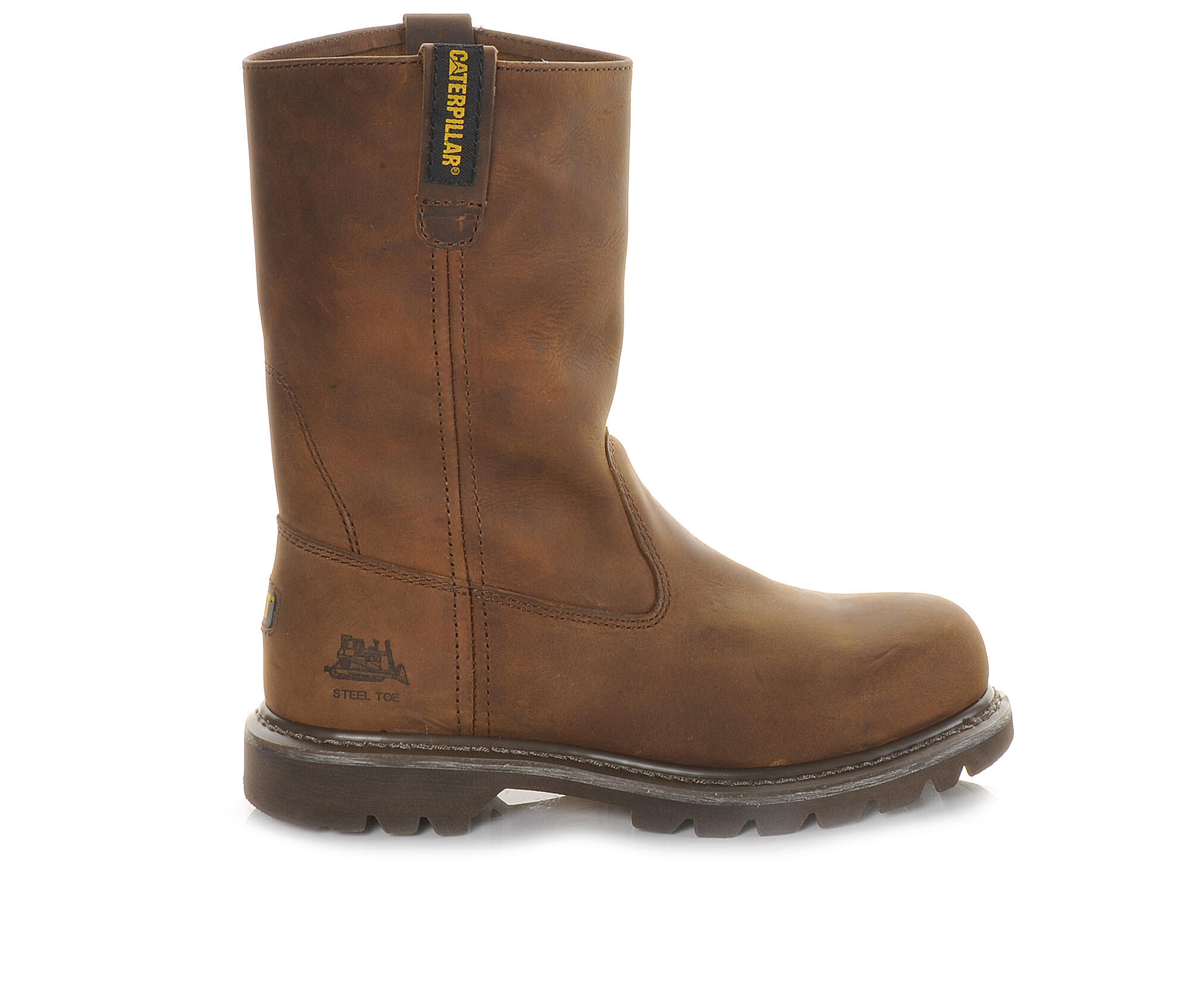 cheapest latest style Women's Caterpillar Revolver Steel Toe Work Boots Brown