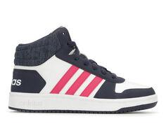 Girls' Adidas Little Kid & Big Kid Hoops Mid 2 K High Top Basketball Shoes
