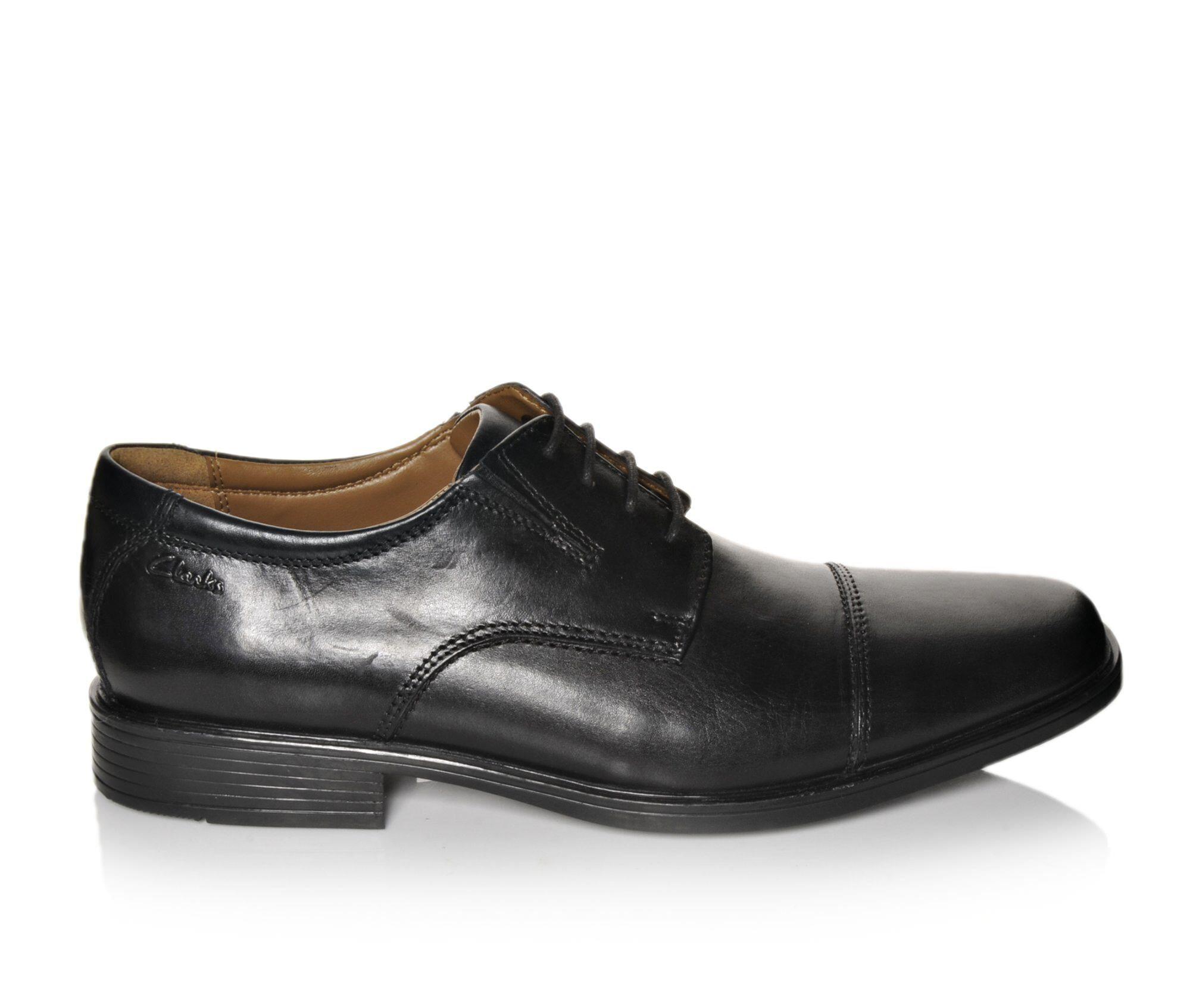 Men's Clarks Tilden Cap Dress Shoes Black