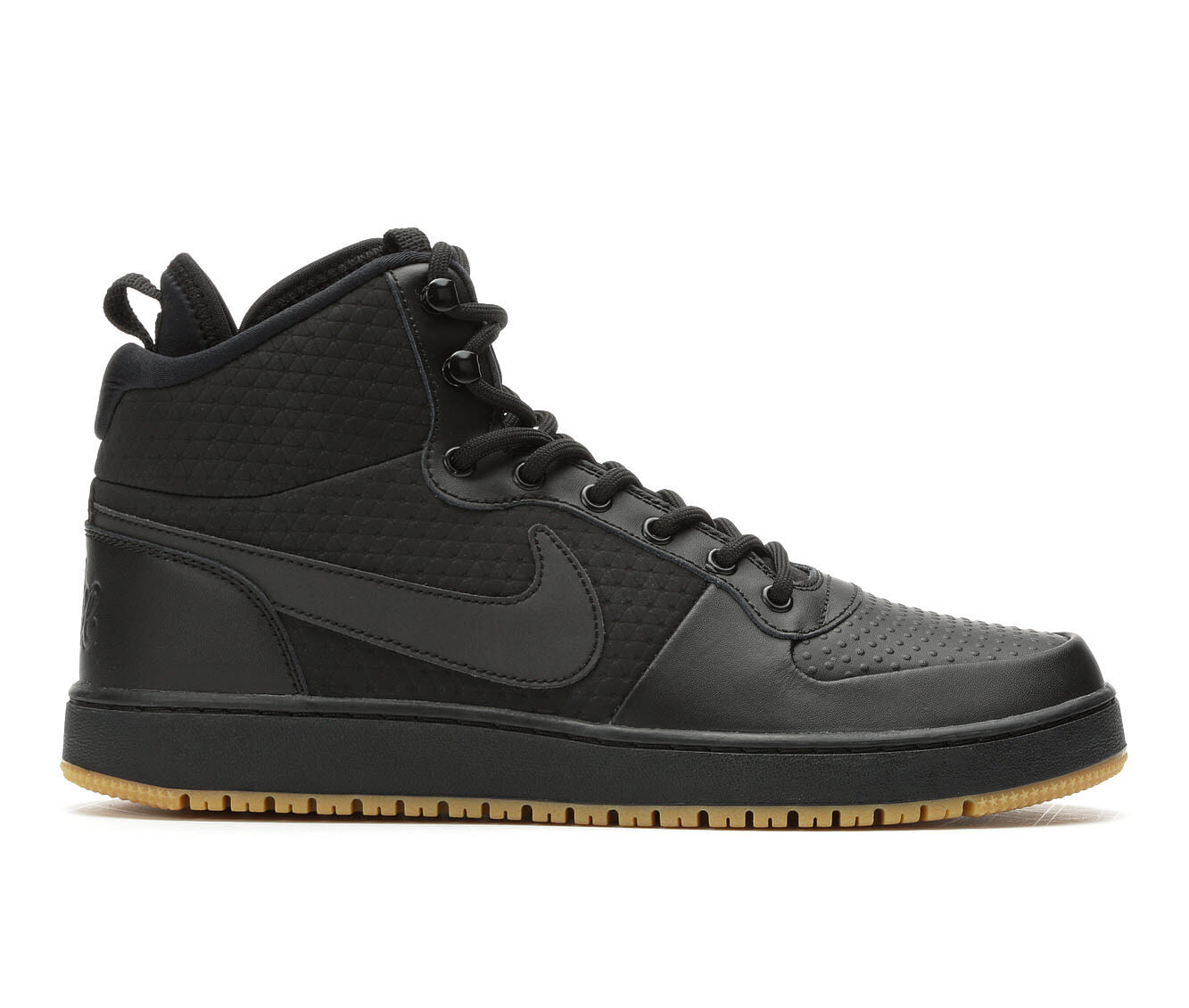 Men's Nike Ebernon Mid SE Sneakers Blk/Blk/Gum