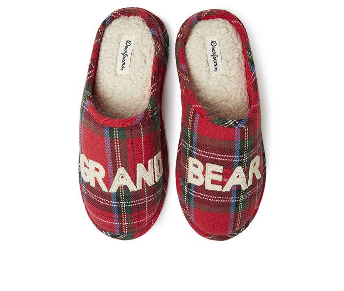 Dearfoams Grand Bear Plaid Slippers