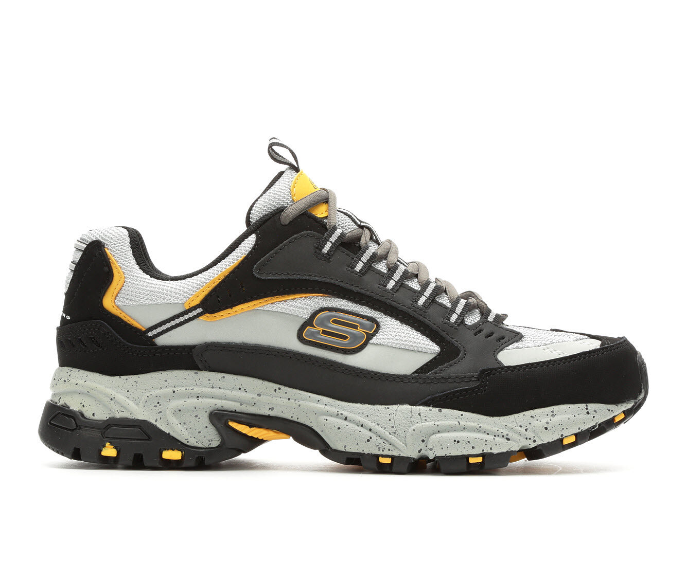 New Release Men's Skechers Cutback 51286 Training Shoes Blk/Gry/Yellow
