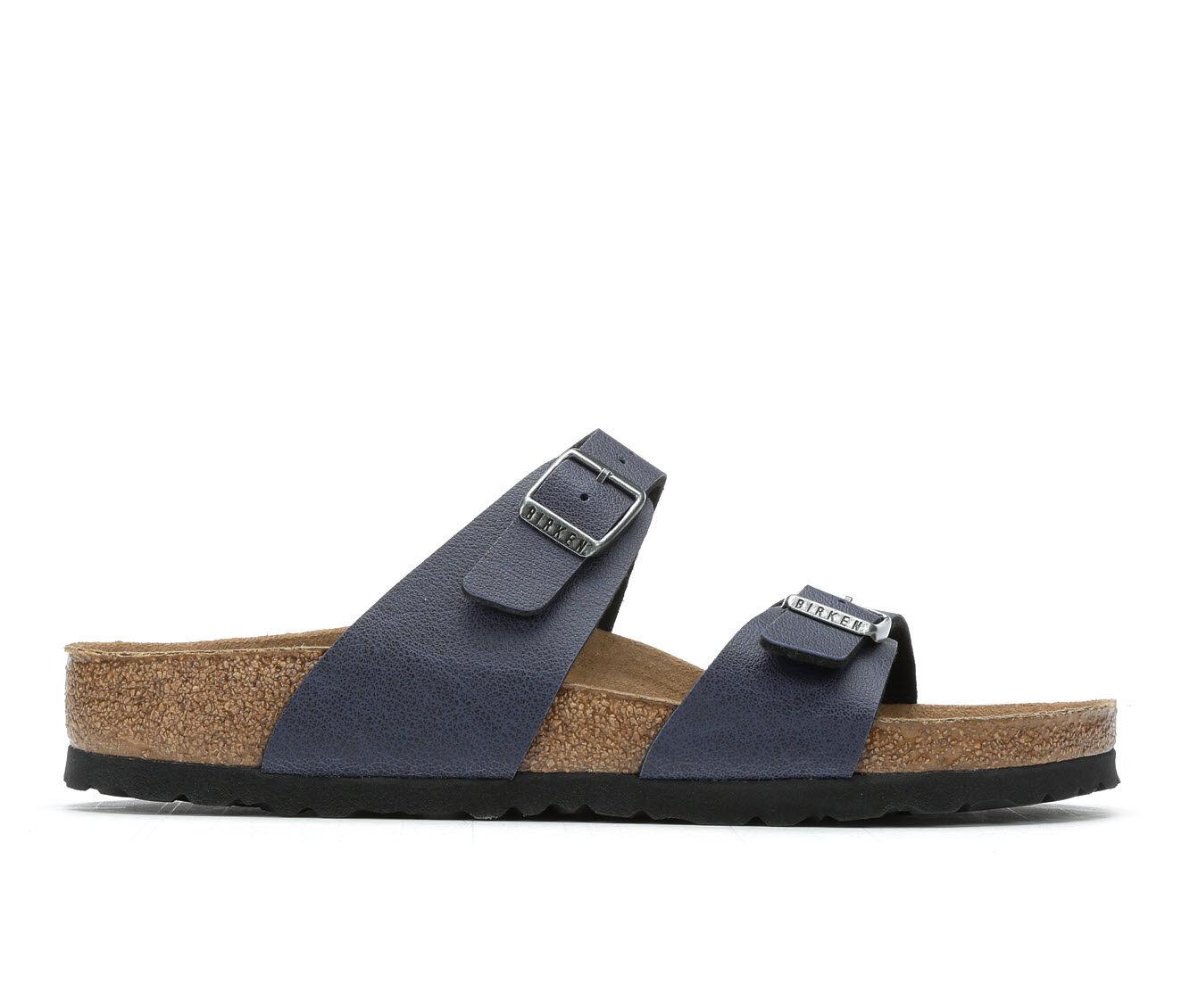 summer selling Women's Birkenstock Sydney Footbed Sandals Navy