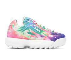 Girls' Fila Little Kid Disruptor II Tie Dye Sneakers