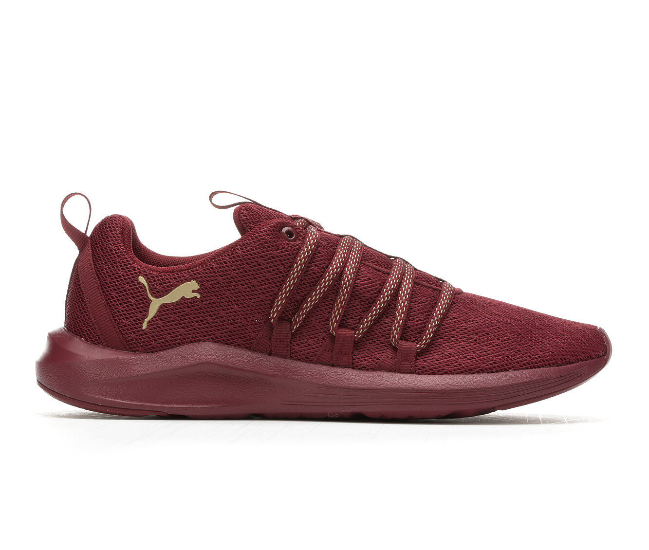 Women's Puma Prowl Sneakers Burgundy/Gold