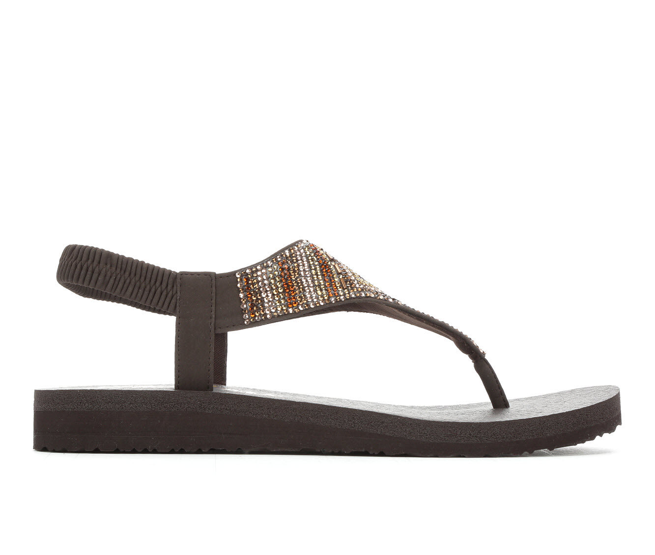 Women's Skechers Cali Meditation Gypsy Glam 31769 Sandals Chocolate