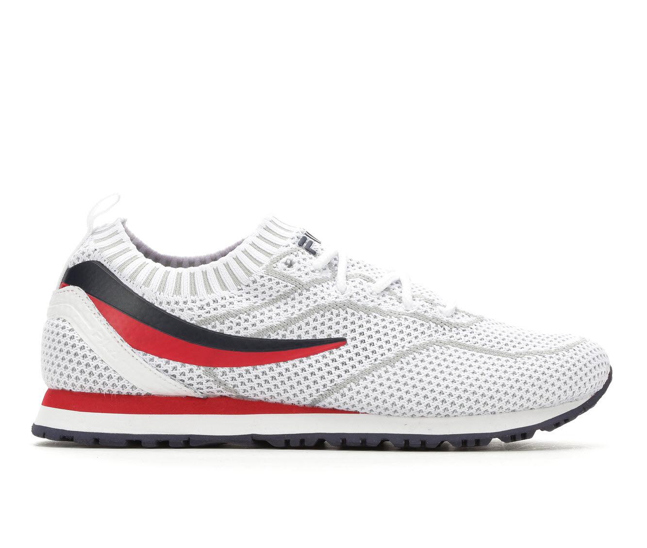 Women's Fila PostRunner 2 Sockfit Retro Sneakers White/Navy/Red