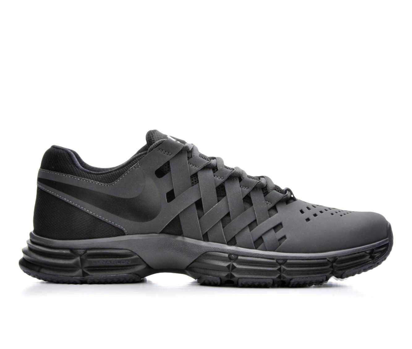 Good Quality Men's Nike Lunar Fingertrap Training Shoes Dk Gry/Blk 010
