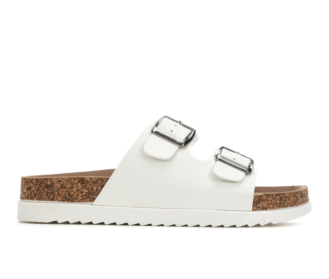 Women's Madden Girl Goldie Footbed Sandals White
