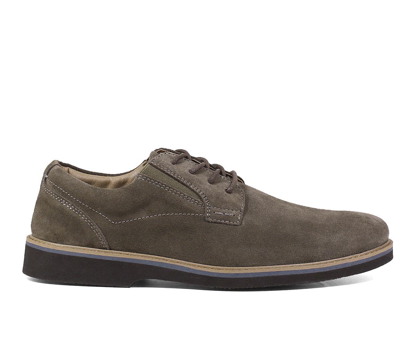 Men's Nunn Bush Barklay Plain Toe Oxford Dress Shoes Mocha