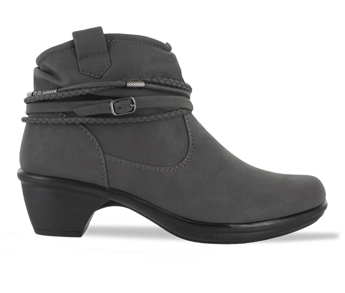 latest style Women's Easy Street Wrangle Booties Grey