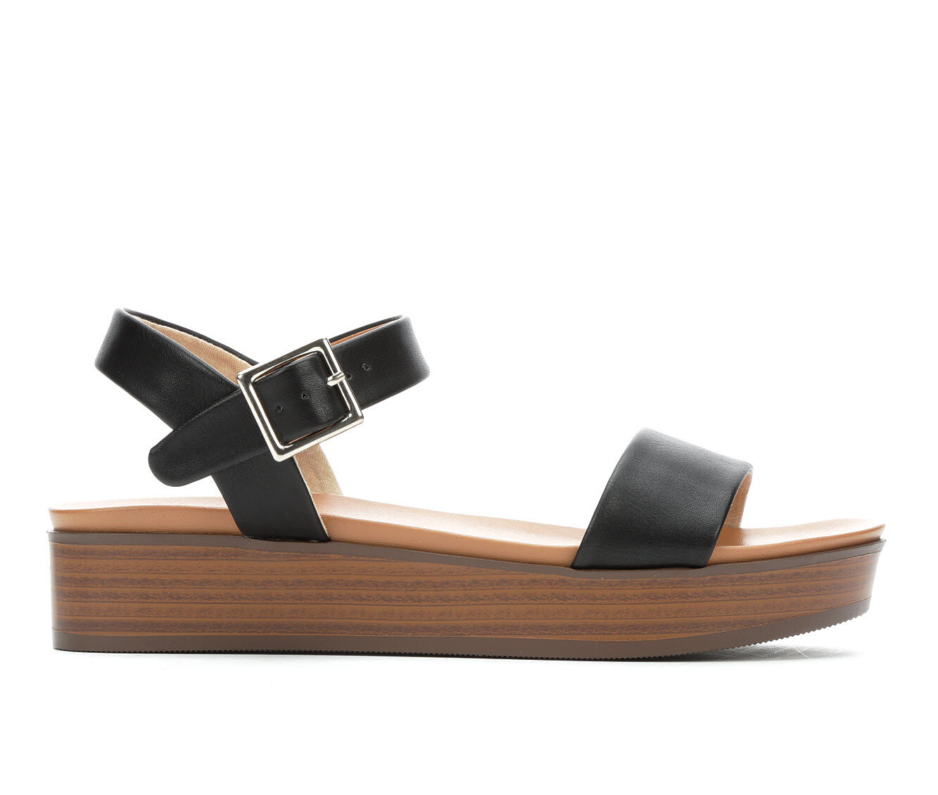 buy new Women's Soda Nebula-S Flatform Sandals Black