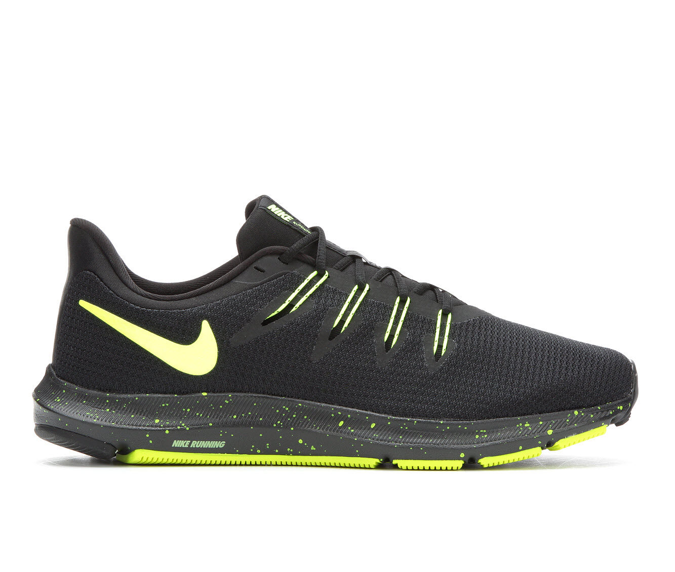 Men's Nike Quest Running Shoes Blk/Vlt 002