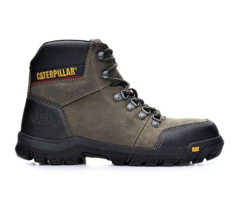 Men's Caterpillar Outline Steel Toe Slip-Resistant Work Boots