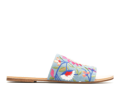 Women's Y-Not Floret Embroidered Slides