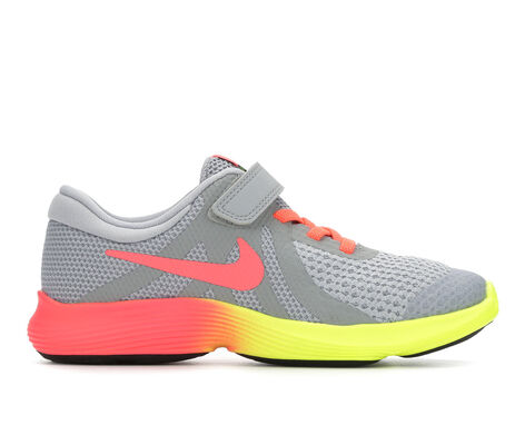 Girls' Nike Revolution 4 Fade 10.5-3 Running Shoes