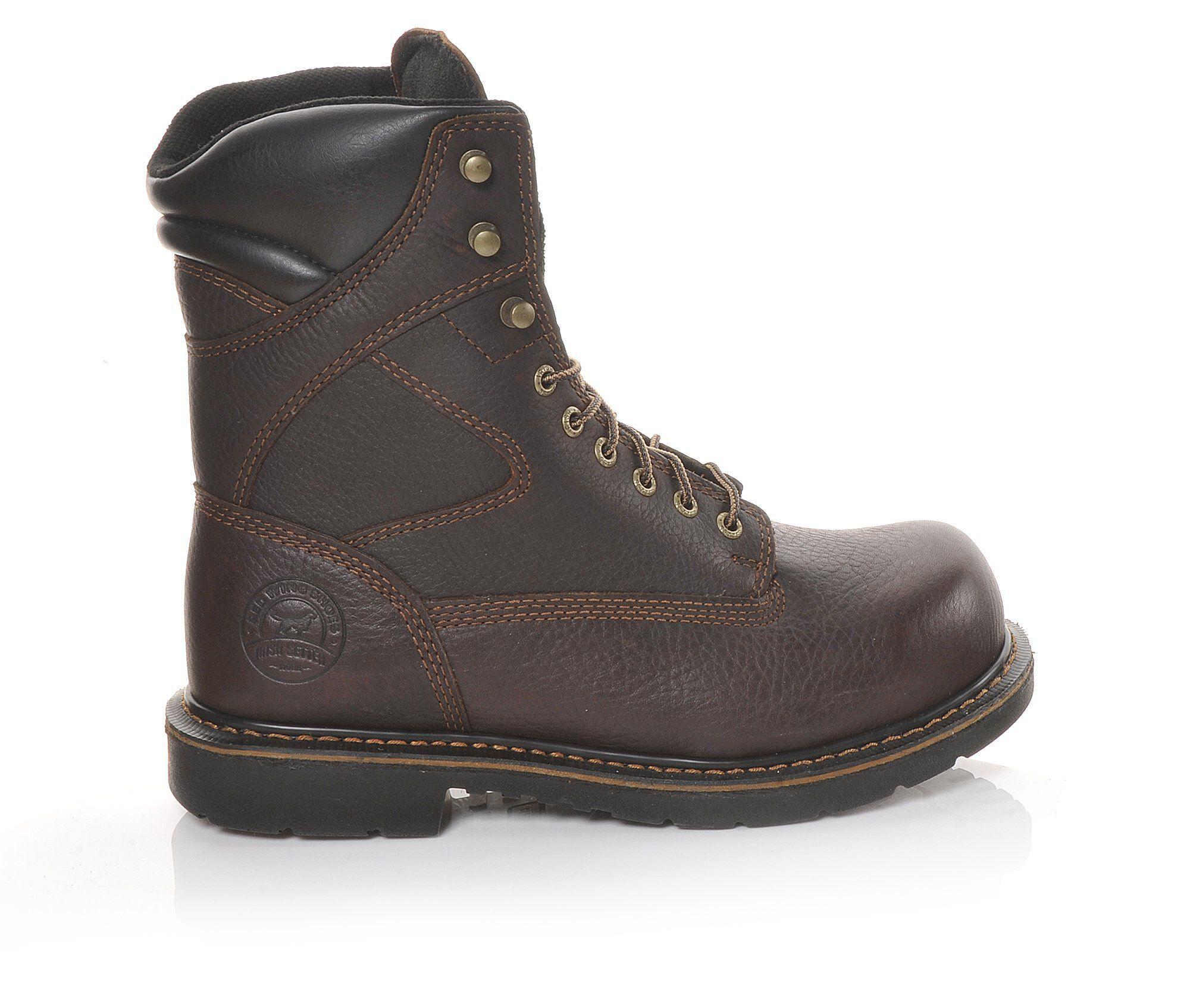 Men's Red Wing-Irish Setter 83824 King Toe 8 Inch Steel Toe Work Boots Brown