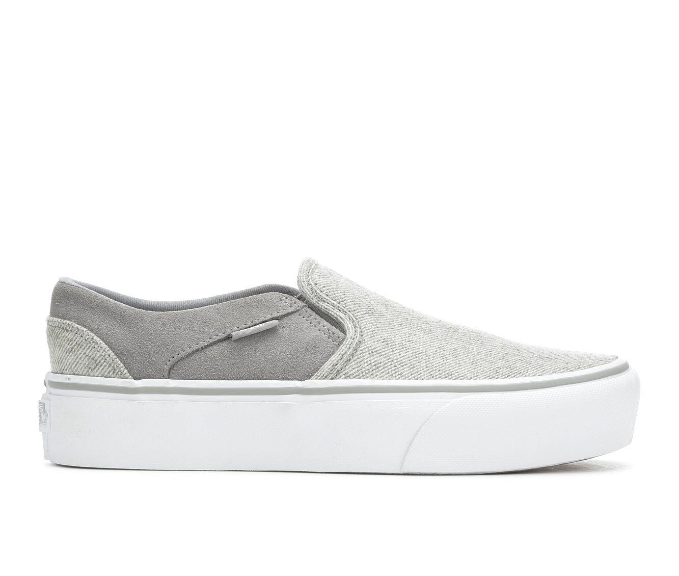 Sales Quality Assurance Women's Vans Asher Platform Skate Shoes Drizzle/White