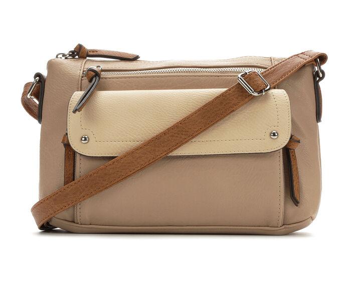 Bueno Of California Tri Tone Crossbody Handbag