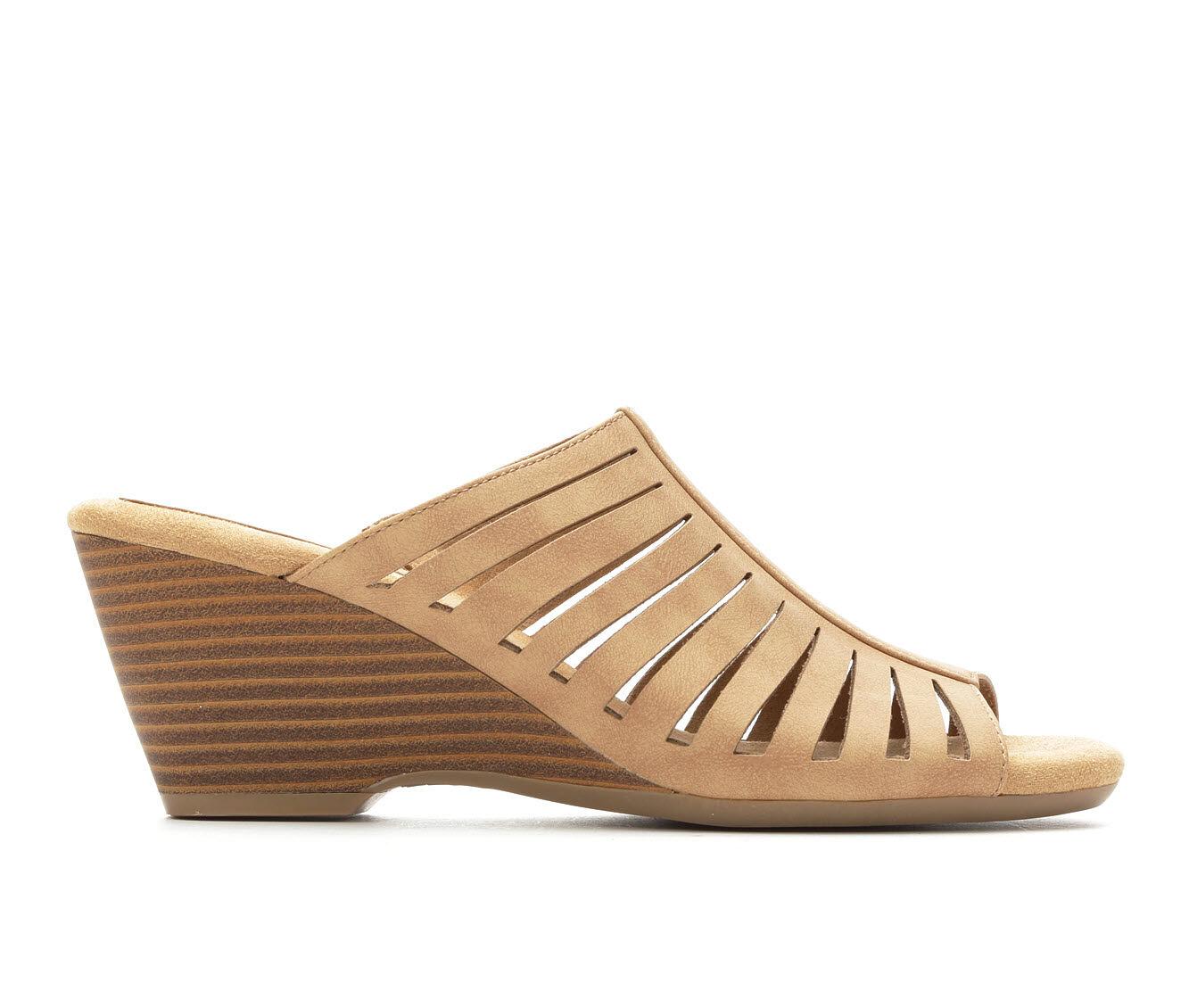 Well-design Women's Solanz Paige Wedge Sandals Sand