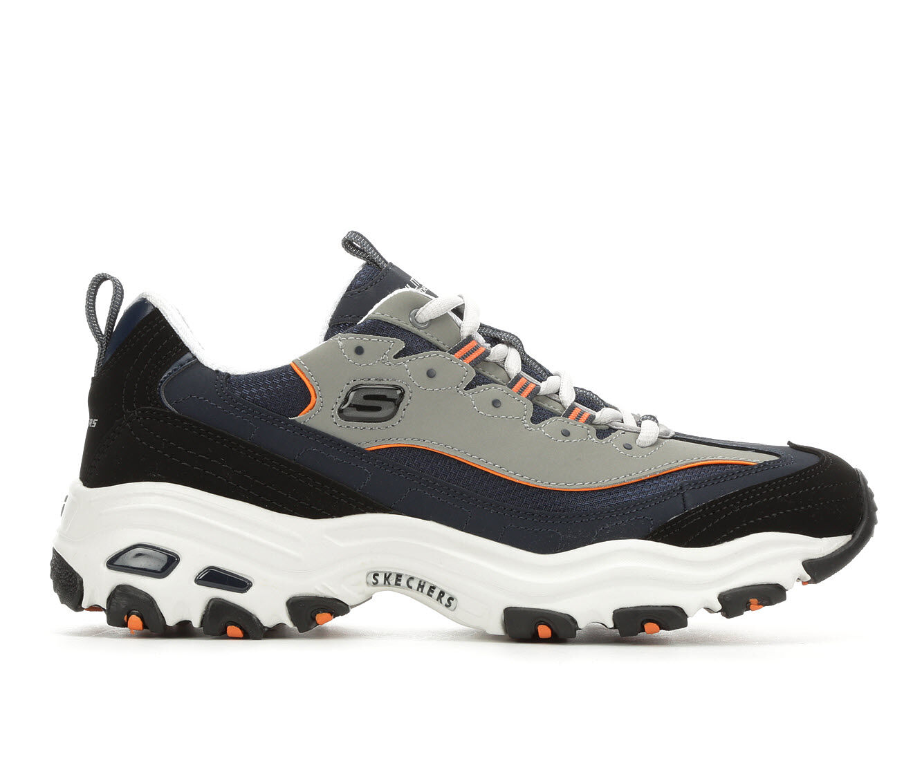 choose latest style Men's Skechers D'Lites 52675 Sneakers Nvy/Wht/Gry/Org