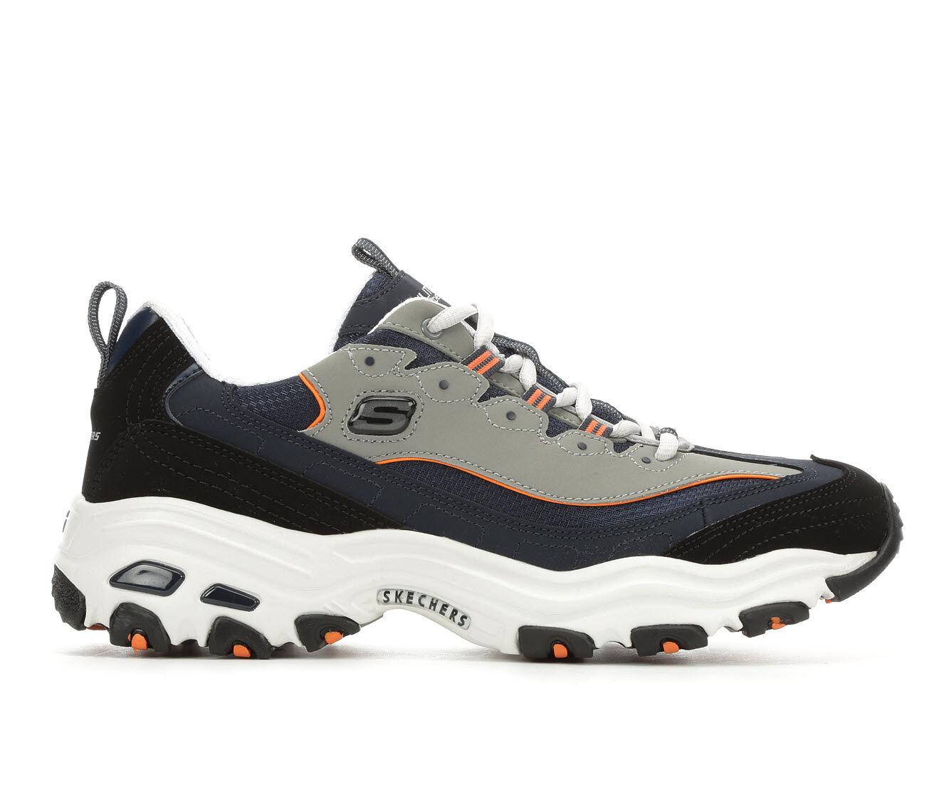 Men's Skechers D'Lites 52675 Sneakers Nvy/Wht/Gry/Org