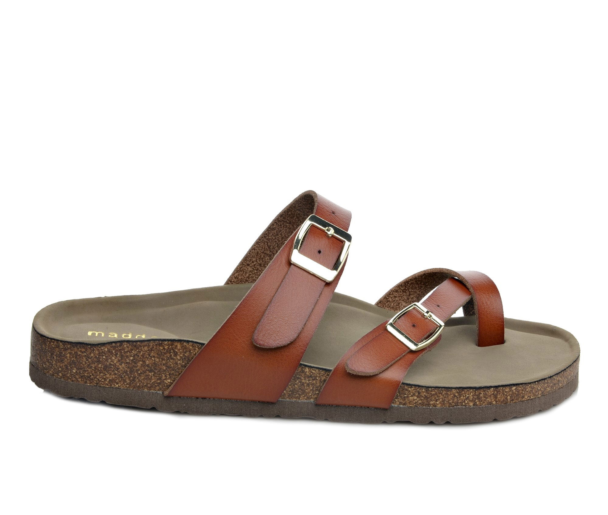 buy special Women's Madden Girl Bryceee Footbed Sandals Cognac