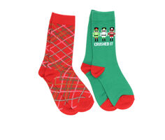 Apara 2p Holiday Crew Socks