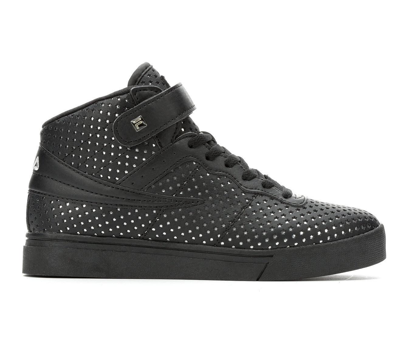 Women's Fila Vulc 13 MP Metallic Stars Basketball Shoes Black/White